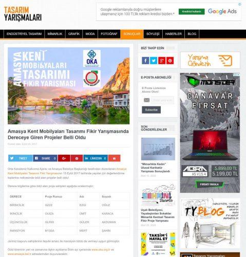 Amasya Kent Mobilyaları Tasarım Yarışması