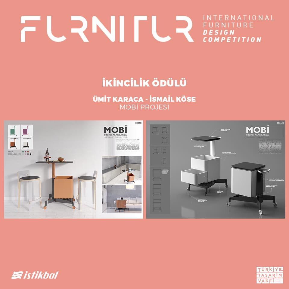 Furni-Tur Uluslararası Mobilya Tasarım Yarışmasında İkincilik Ödülü i&o tasarım'ın