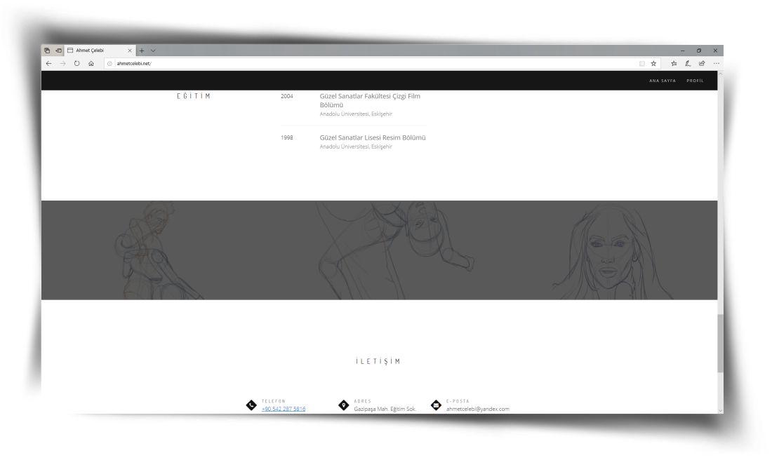 Ahmet Çelebi - Web Sitesi Tasarımı