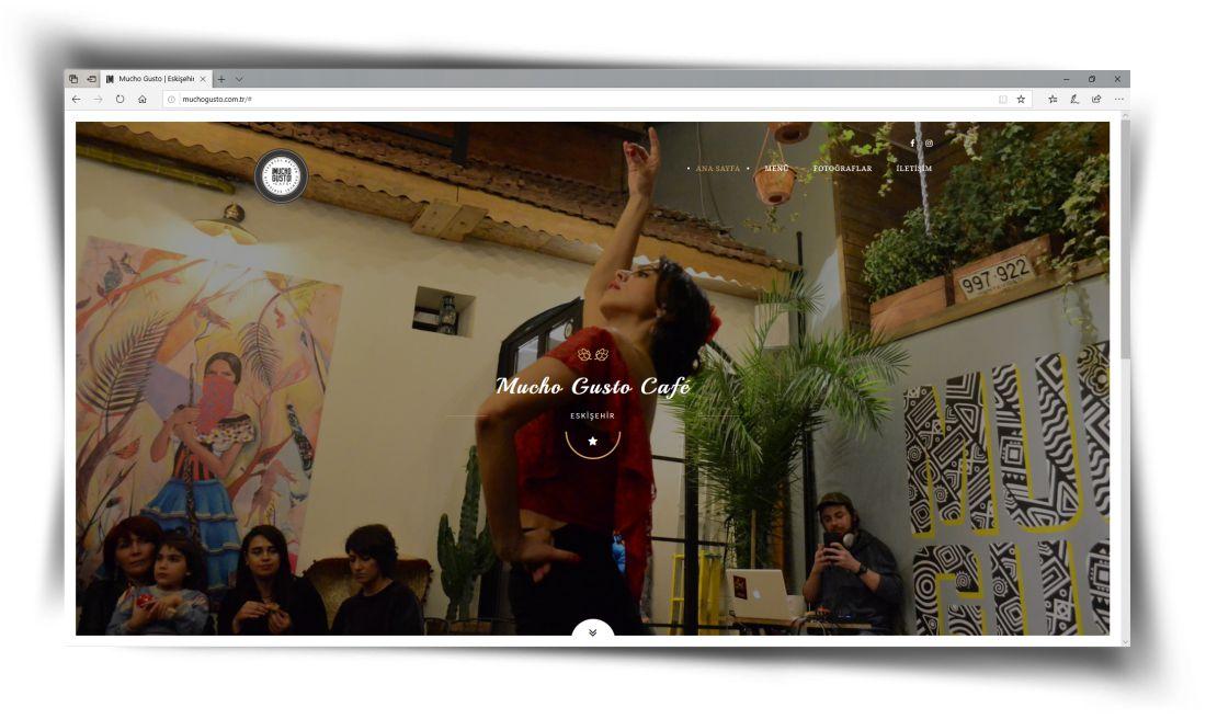 Mucho Gusto Cafe - Web Sitesi Tasarımı