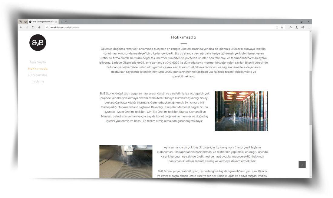 BvB Stone - Web Sitesi Tasarımı