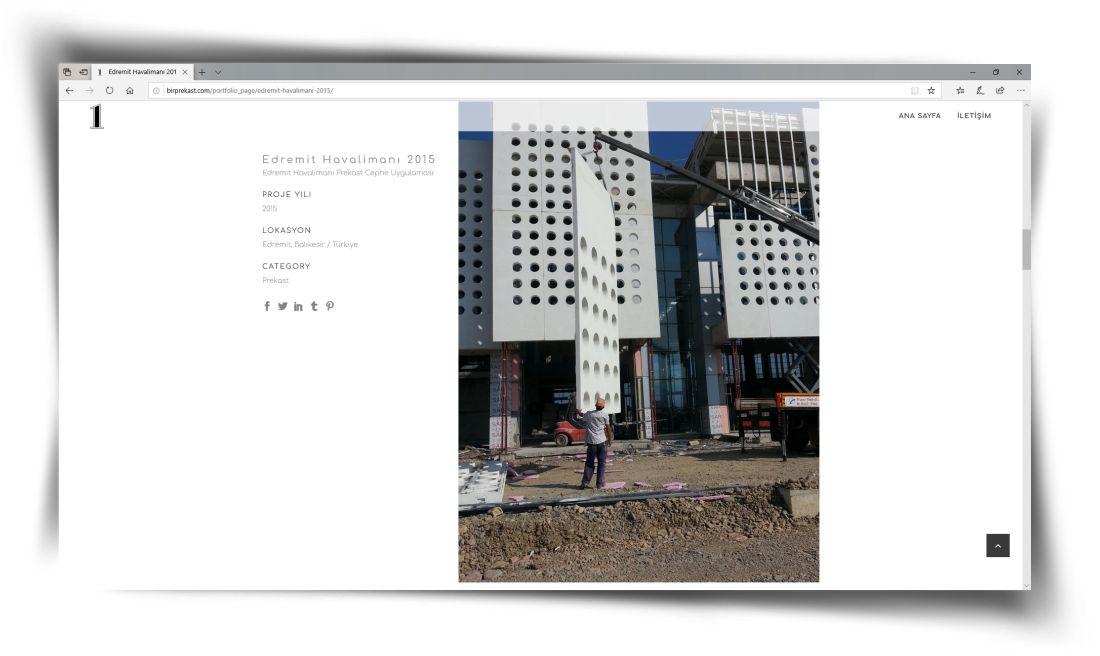 Bir Prekast - Web Sitesi Tasarımı